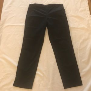 Theory black summer cotton pants size 4